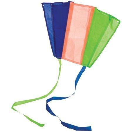 Chinatera Kids Rainbow Parafoil Pocket Kite Colorful Stripe Outdoor Toys Stunt Sport Beach Foldable Kite Set