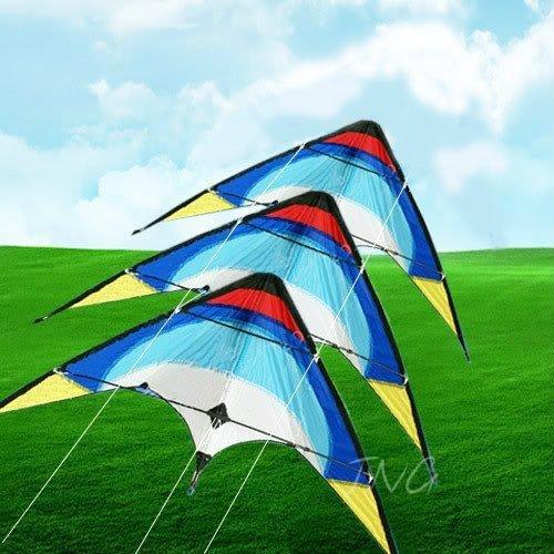 Eye-Catching 3 Stack Dual Control Sport Stunt Kite Set Outdoor Beach Park Garden Fun by LW