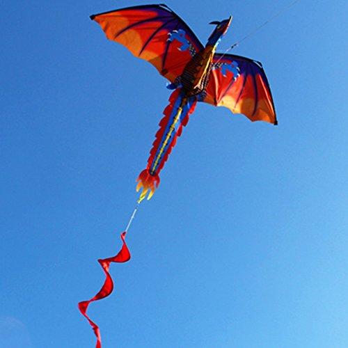 LANDUM Kite for Children 3D Dragon Kite with Tail Kites for Adult Kites Flying Outdoor 100m Kite Line