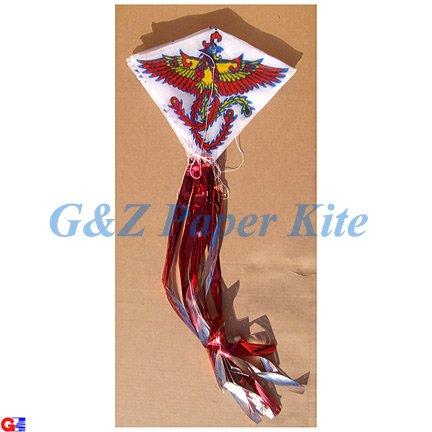 10 Mini Paper Kites on a String - Chinese Phoenix Train Kites
