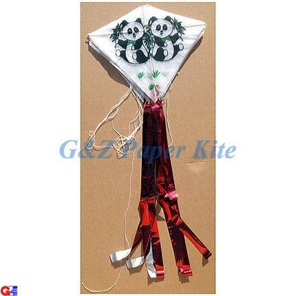10 Mini Paper Kites on a String - Panda Bear Train Kites by Gz