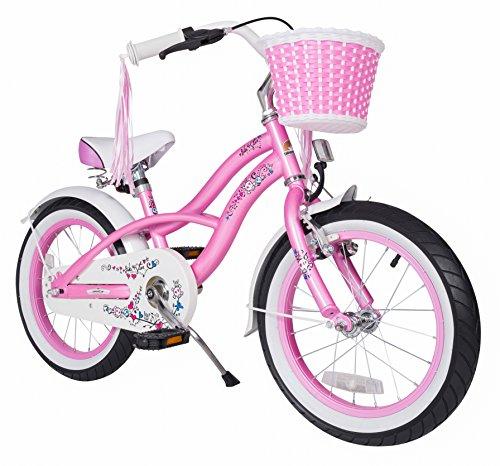 Bikestar 16 Inch 406cm Kids Children Bike Bicycle - Cruiser - Pink