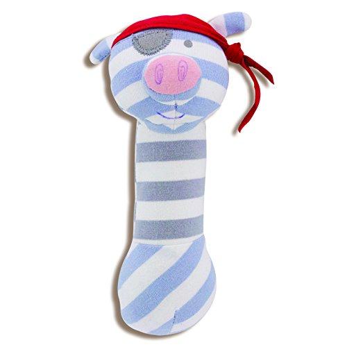 Organic Farm Buddies Pirate Pig Squeaky Toy