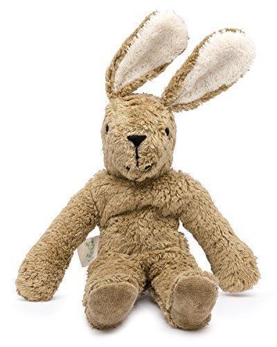 Senger Stuffed Animals - Bunny - Handmade 100 Organic Toy WhiteBeige - 12 Inches Tall