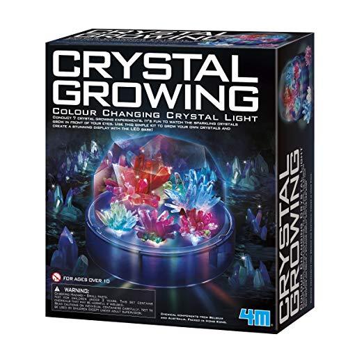 4M Crystal Growing Color Changing LED Light Kids Science Kit