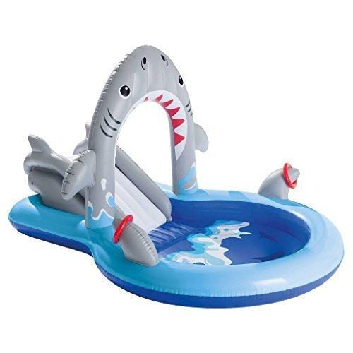 Intex Large Shark Sprayer Play Center Kiddie Pool Outdoor Summer 93 X 62 X 52 Blue