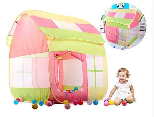 HillaryWIGÂ Kids Outdoor Indoor Fun Play Big Tent Playhouse Princess Pink Playhouse413x413x51