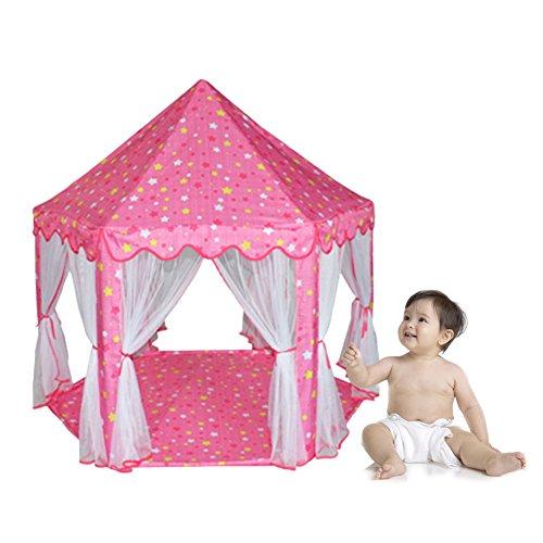 Diamondo Large Princess Castle Tent Baby Kid Portable Indoor Outdoor Playhouse 55x 53DxH Pink