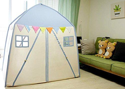 love tree Kids Indoor Princess Castle Play TentsOutdoor Large Playhouse Secret Garden Play Tent - Portable for Indoor and Outdoor Fun Plays Blue One