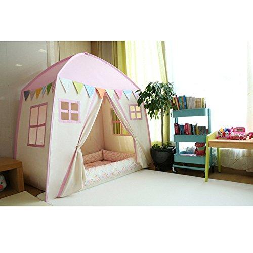 love tree Kids Indoor Princess Castle Play TentsOutdoor Large Playhouse Secret Garden Play Tent - Portable for Indoor and Outdoor Fun Plays Pink One