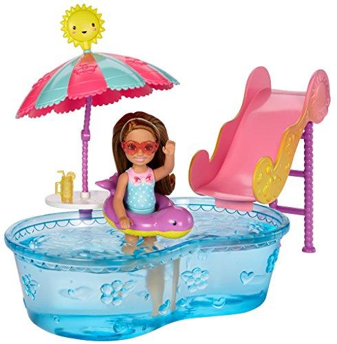 Barbie Club Chelsea Pool Water Slide Playset