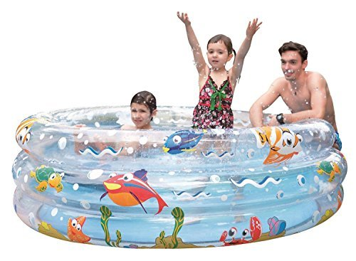59 Ocean Floor Three Ring Inflatable Childrens Swimming Pool by Pool Central