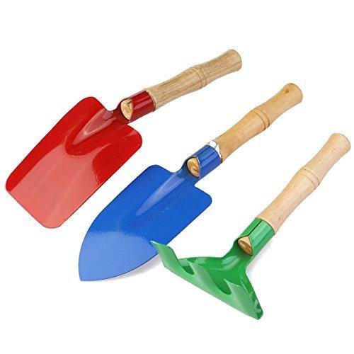 WINOMO Outdoor Garden Tools Set Rake Shovel Kids Beach Sandbox Toy 3pcs