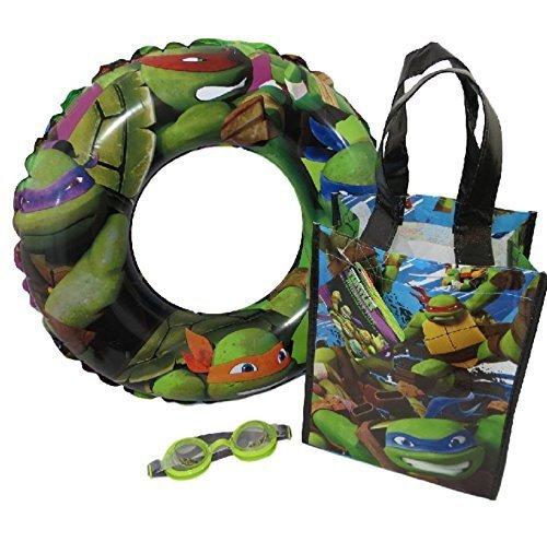 Teenage Mutant Ninja Turtle Water Play Set with Swim Ring Goggles and Small Ninja Tote