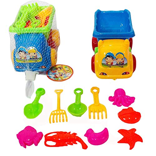 Swovo Beach Sand Toys Sand Toys for Toddlers Sand Water WheelSand MoldsBeach Bucket and Beach Shovel Tool Outdoor Play 11Pcs