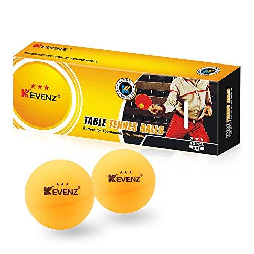 12 Counts KEVENZ Profession 3-Star 40mm Table Tennis BallsOrange Ping-Pong Orange