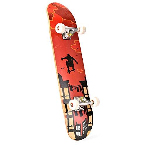 PG Boy Girl Wood Longboard Skateboard Cruiser Skate Board Downhill Red