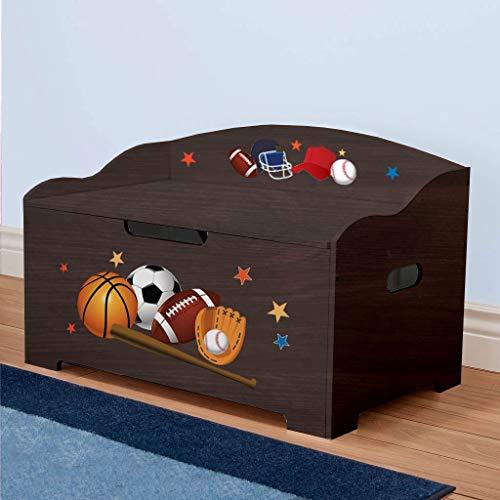 Dibsies Modern Expressions Toy Box - Espresso Sports