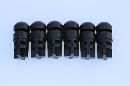 Trampoline Enclosure Plastic Caps SET OF 6 for Sportspower Flex Models OEM Equipment