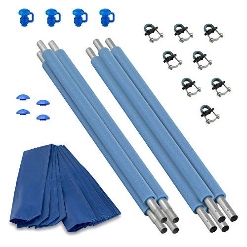 Upper Bounce Trampoline Enclosure Poles Hardware Set of 4 Net Sold Separately