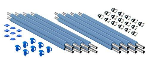 Upper Bounce Trampoline Enclosure Poles Hardware Set of 8 Net Sold Separately