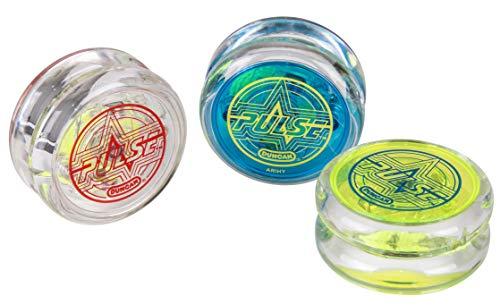 Duncan Pulse Yo-Yo for Beginners LED Light-Up Technology Plastic Body Ball-Bearing Axle Friction Sticker Technology