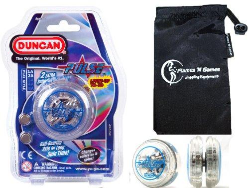 Duncan PULSE LED YoYo Blue Professional Light-Up Bearing String Tricks Yo Yo  Travel Bag BATTERIES INCLUDED