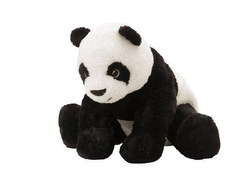 1 X Ikea Kramig Panda Teddy Bear Stuffed Animal Childrens Soft Toy Play by IKEA Model  Toys Play