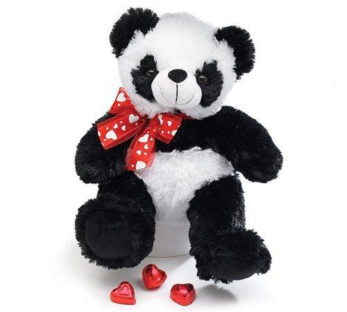 Adorable Plush Panda Teddy Bear Measures 10 High Sitting by Burton Burton