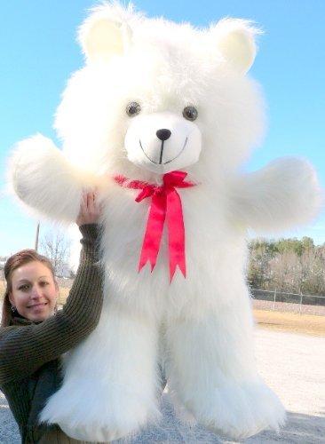 Giant White Teddy Bear 42 inch Soft Teddybear Made in USA America