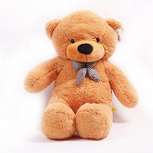 YUNNASI 47 Inches Light Brown Cute Fluffy Wedding Stuffed Soft Teddy Bear Animal Giant