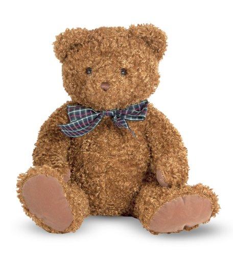 Melissa Doug Little Chestnut Teddy Bear Stuffed Animal 9 inches tall
