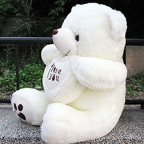 Vercart 28 White I Love You Cuddly Stuffed Animals Plush Sweatheart Teddy Bear Toy Doll