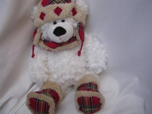 Aviator Teddy Bear Plush Toy Large 19 White