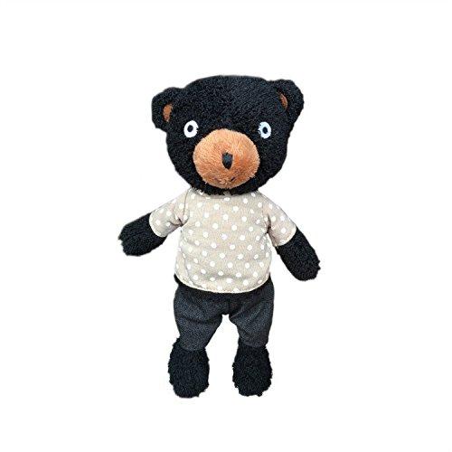 Handmade Cuddly Teddy Bear Plush Toy Color Black Size Small