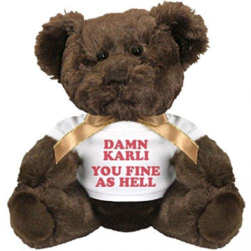 Damn Karli You Fine As Hell Small Plush Teddy Bear