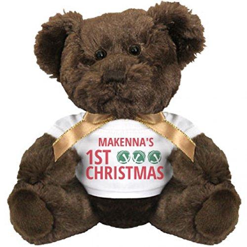 Jingle Bells Makennas 1st Christmas Small Plush Teddy Bear