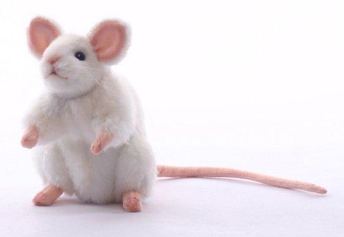 Hansa White German Mouse Plush Animal Toy 6