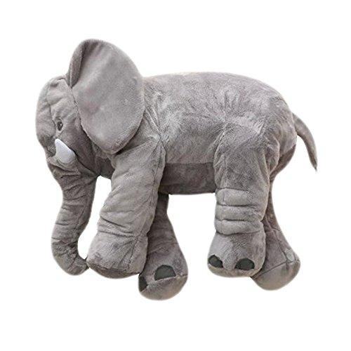 MorisMos Elephant Pillow Stuffed Animal Toy Plush Toy for Baby Children Kids Gift Grey 24 inch 60x45x25cm