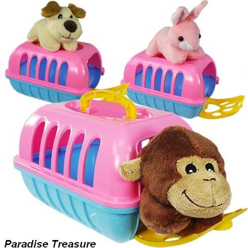 My Pet Cute Plush Animal Toy Pet Carrier set