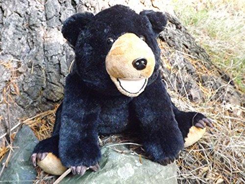 14 Black Bear Stuffed Toy Animal - Plush Black Bear with Claws