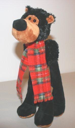 LANKY LEGS STUFFED BLACK BEAR for Toddlers Children Washable Plush