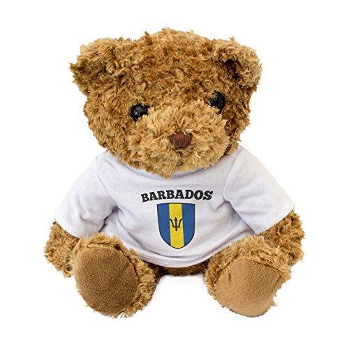 NEW - Barbados Flag - Cute And Cuddly Teddy Bear - Birthday Gift Present Xmas Fan