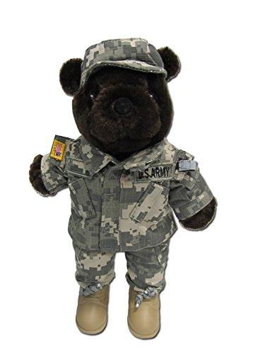 Stuffed 20 teddy bear in US Army Combat Military Uniform-ACU