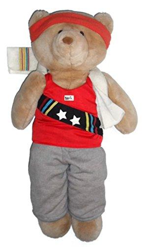 Vintage 1986 Applause Yubbie Track and Field Athlete 20 Teddy Bear Plush Stuffed Animal