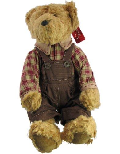 Russ Berrie Bears of the Past Ferguson Dressed Country Boy Teddy Bear