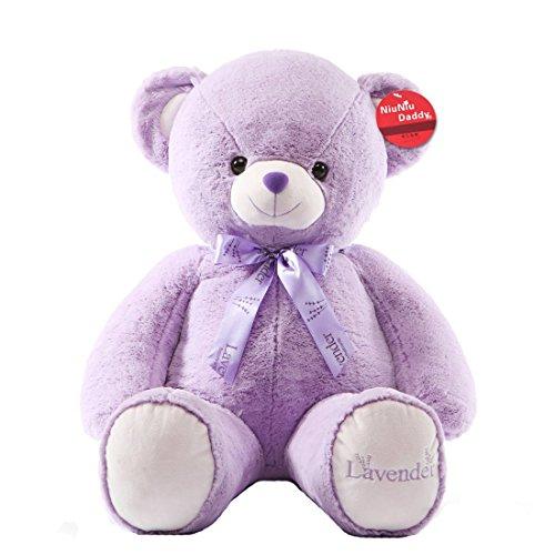 Niuniu Daddy 255 Purple Teddy Bear  Super Cute Huggable Stuffed Plush Animal Toy SOFT PILLOW
