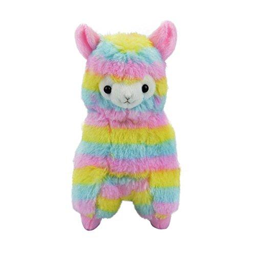Cuddly Llama Rainbow Alpaca Doll 5  Soft Baby Stuffed Animal Toy Puppet Doll Valentines Day Birthday Xmas Christmas Wedding Anniversary Presents Gifts