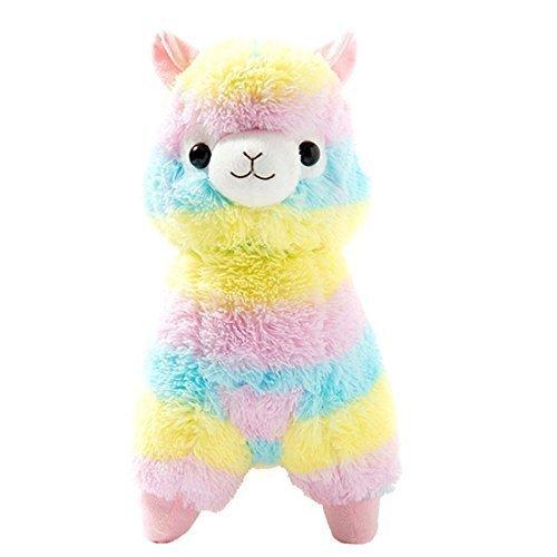 Cuddly Llama Rainbow Alpaca Doll 7 Soft Baby Stuffed Animal Toy Puppet Doll Valentines Day Birthday Xmas Christmas Wedding Anniversary Presents Gifts by AngelGift