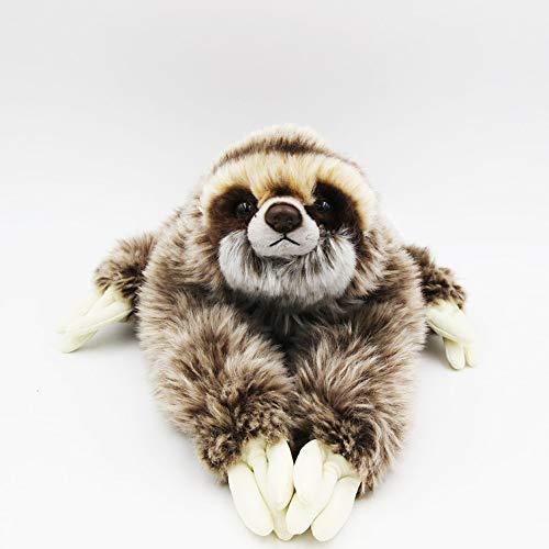 TAMMYFLYFLY Cute Realistic Three Toed Sloth Plush Stuffed Animal Toy 12inch
